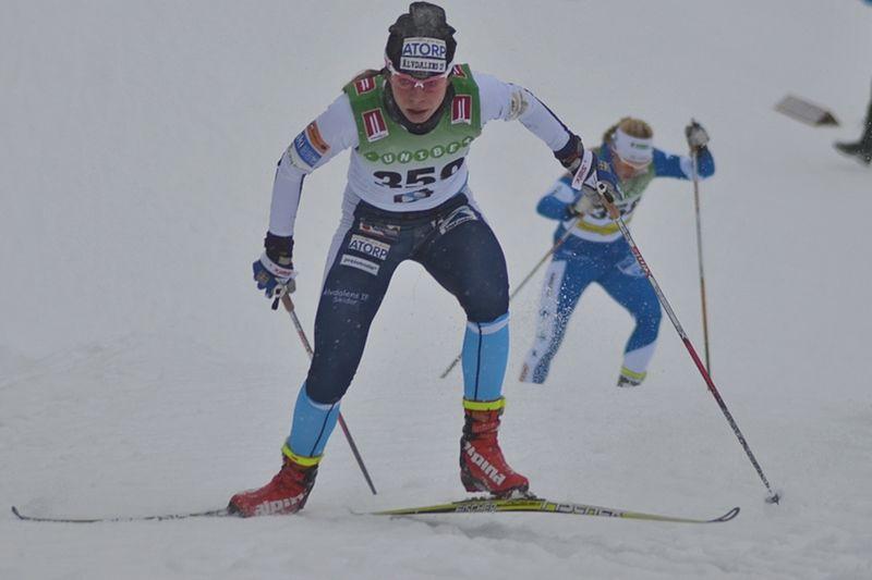 Maria Rydqvist har ångrat sig och satsar vidare med målet att nå vinterns VM i Lahtis. FOTO: Johan Trygg/Längd.se.