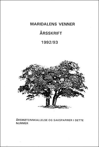 Forside årbok 1993