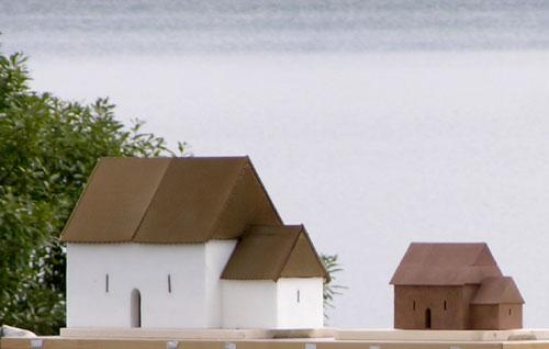Modellene av St. Margaretakirken. Foto: Tor Øystein Olsen 210805