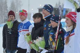 Martin Hammarberg, Andreas Holmberg, Markus Lundholm, Erik Rost, Tove Alexandersson och Magdalena Olsson. Alla EM-medaljörer i Schweiz häromveckan. FOTO: Johan Trygg/Längd.se.
