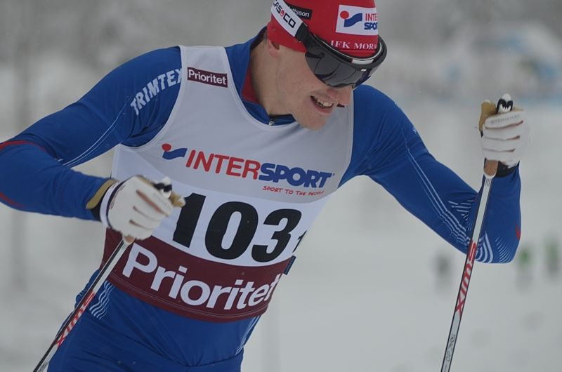 Johan Edin vann 6 kilometer löpning vid Orsakajtn på midsommarafton. Här är Johan vid SM-sprinten i Ånnaboda i vintras. FOTO: Johan Trygg/Längd.se.