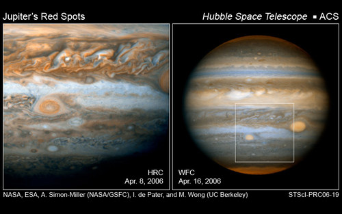 Oval BA sett av Hubble