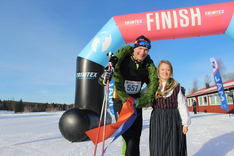 Fredrik Lybeck vann Hälsingeleden med nästan två minuters marginal. FOTO: Rehns BK.