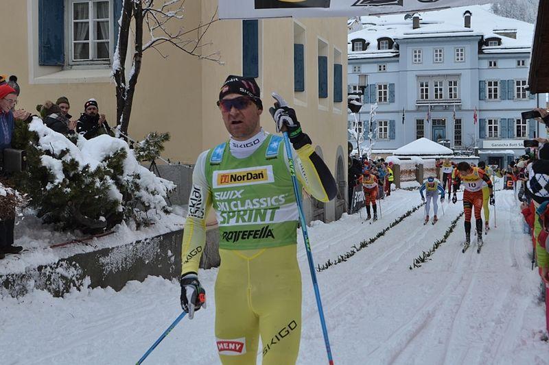 """Öystein """"Pölsa"""" Pettersen utmanar ett gäng Vasaloppsvinnare i Skinnarloppet på söndag. Här är """"Pölsa"""" vid seger i La Diagonela. FOTO: Johan Trygg/Längd.se."""