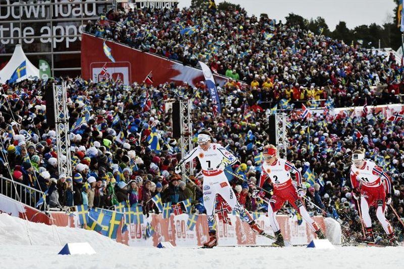 Rikard Grip önskar en ny folkfest när längdlandslaget kommer till Svenska Skidspelens världscuptävlingar nästa helg. FOTO: Falun2015.