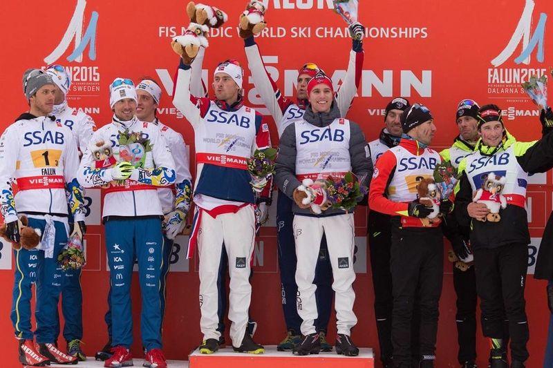 Precis som på damsidan tog Norge revansch för Sotji-OS och grejade guldet före Sverige och Frankrike. FOTO: NordicFocus.