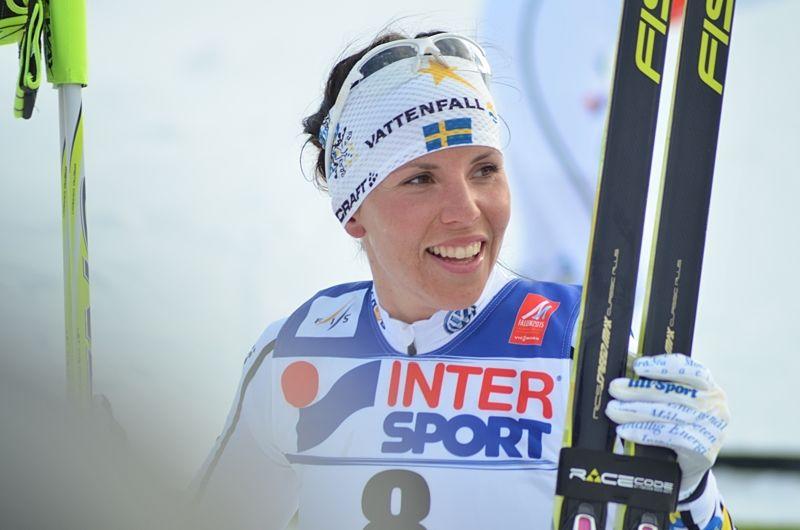 Charlotte Kalla satsar på totala världscupen och är ett stort dragplåster till Vinterstudions sändningar i vinter. FOTO: Linus Trygg/Längd.se.