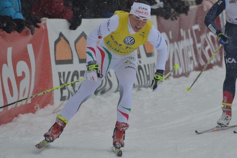 Charlotte Kalla tog sitt 19:e SM-guld vid tremilen i Kalix. Här är hon på väg mot 18:e guldet i Ånnaboda tidigare i vinter. FOTO: Johan Trygg/Längd.se.