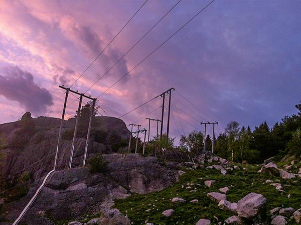 Strømnett på Slettebø
