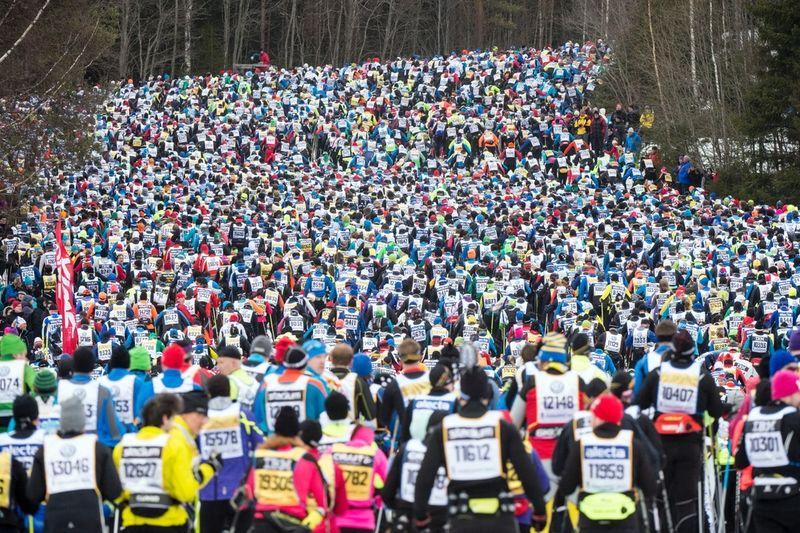 SVT och Vasaloppet har träffat ett nytt avtal, som innebär att SVT har sändningsrätten till det traditionstyngda loppet fram till 2020. SVT har sänt Vasaloppet sedan 1966. FOTO: Vasaloppet/Ulf Palm.