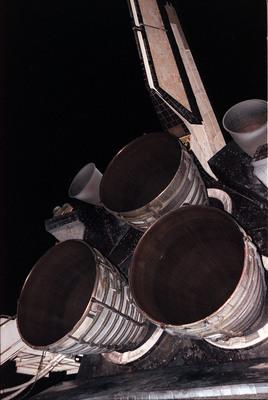 De tre hovedmotorene på romfergen
