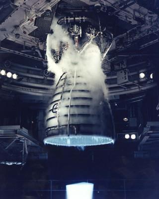 Testkjøring av rakettmotor
