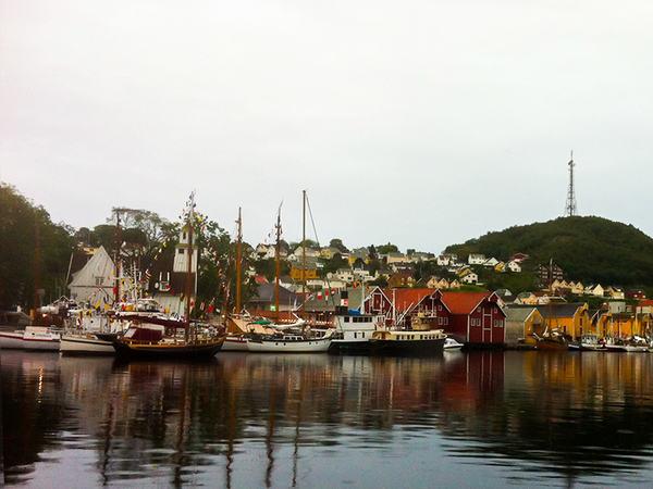 Seilskuter i Egersund indre havn