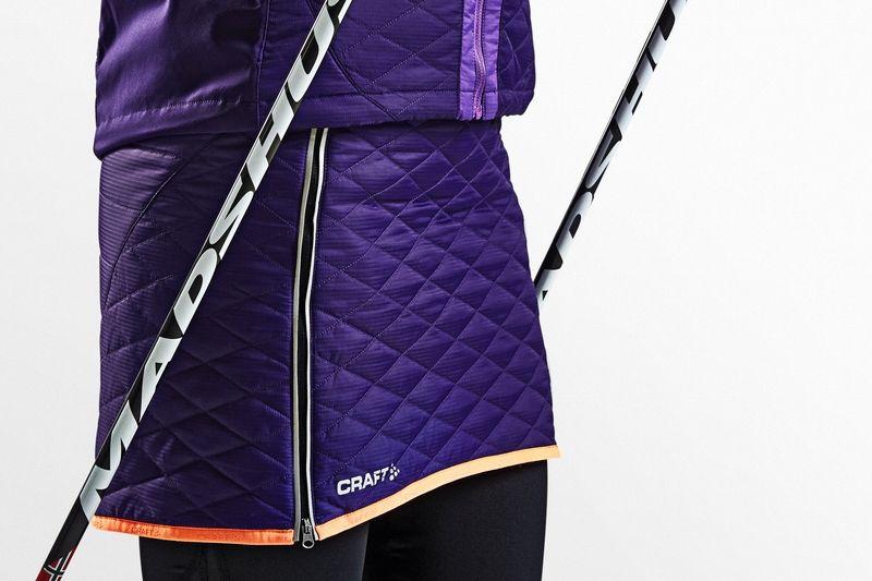 Craft lanserar värmande kjol för längdåkning till vintern. FOTO: Craft.