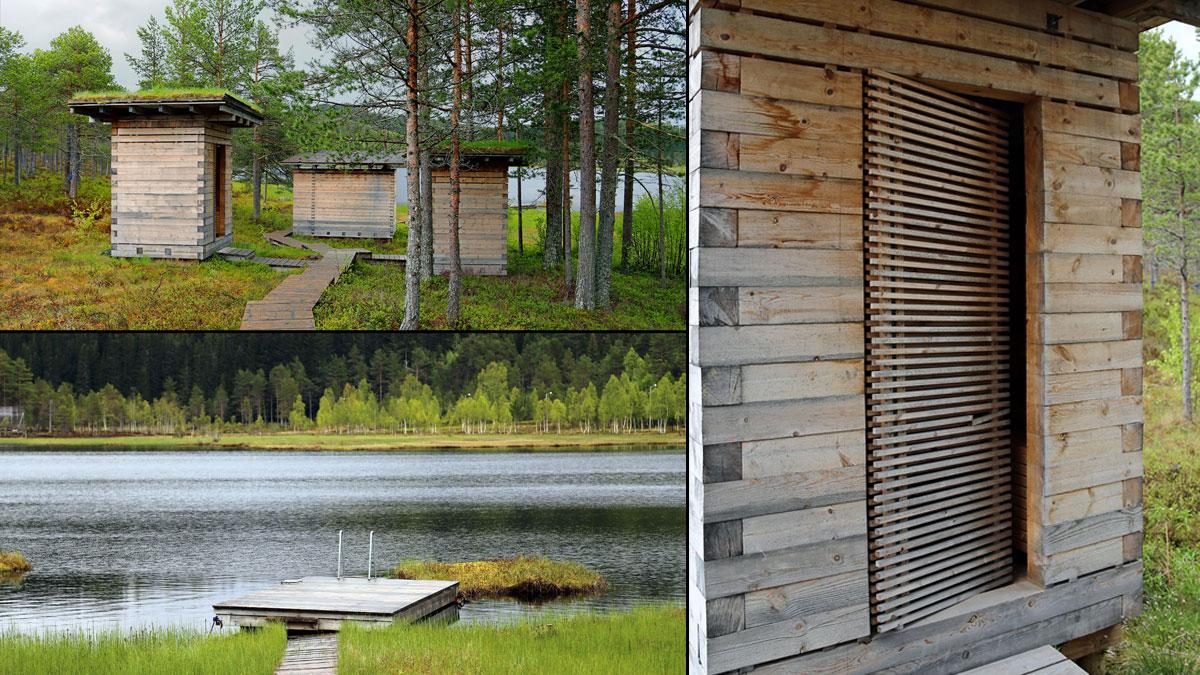 Rindal sauna ligger lekkert til ved Igltjønna.