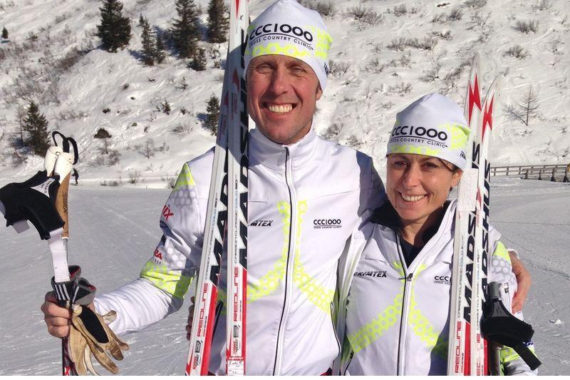 CCC 1000-grundaren Fredrik Erixson här med Bella Magnusson som kommer att leda CCC 1000:s tjejsatsning.