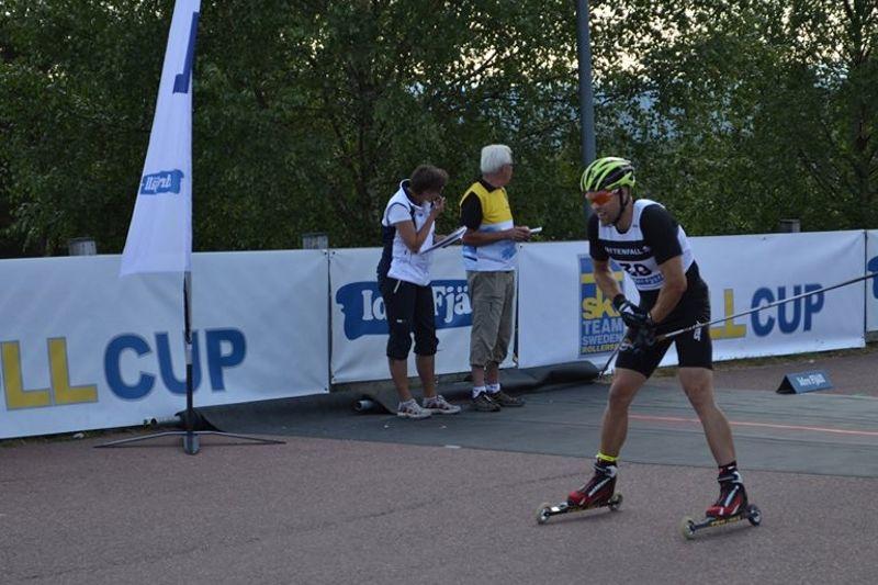 Jörgen Brink är på plats i Idre för att försvara ledningen i Ski Team Roll Cup. Här är Jörgen vid Idre Fjäll Hill Climb 2013. FOTO: Johan Trygg/Längd.se.
