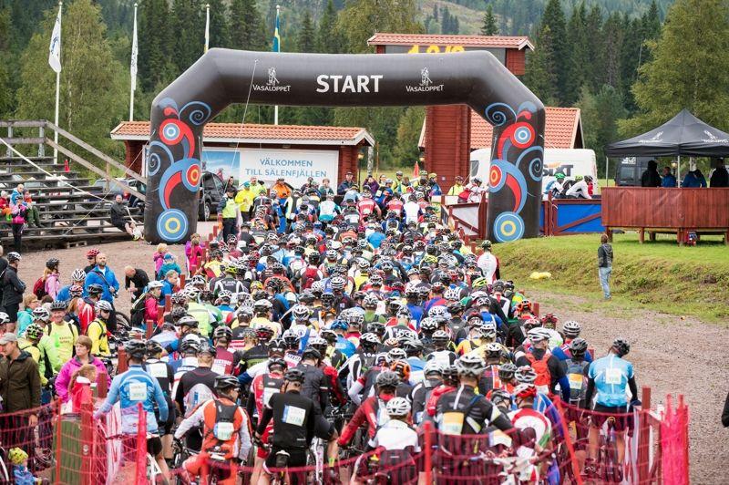 Sveriges Television utökar i år bevakningen från Cykelvasan i och med att reportageteamet på plats sänder ett införprogram på webben kvällen innan Cykelvasan 90. FOTO: Vasaloppet/Ulf Palm.