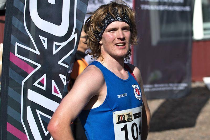 Edvin Murto segrarde i Dundret Extreme Running fyra sekunder före Niklas Niska. FOTO: Yngve Johansson Imega Promotion.