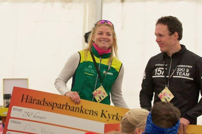 Elin Vedin och Markus Ottosson tog båda hem segern i Nybrorullen och leder totalt i Huselius Rullskidscup. FOTO: Alexander Ovinder.