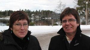 Hanne Håberget og Borghild Brandvold