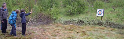 Friluftsgruppe i Mosjøen - bueskyting