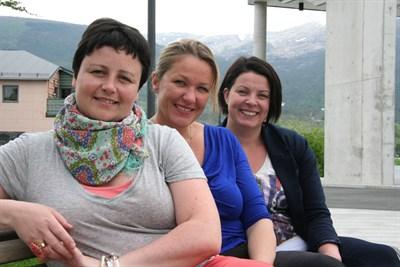 Monika, Linn og Ingvild Marie