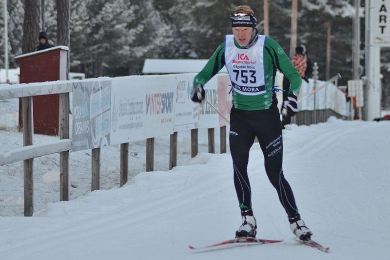 Bröderna Axel och Gustav Aflodal hade en bra dag i Idre. Axel vann H 17-18 och Gustav (bilden) blev tvåa i H 19-20. FOTO: Johan Trygg/Längd.se.