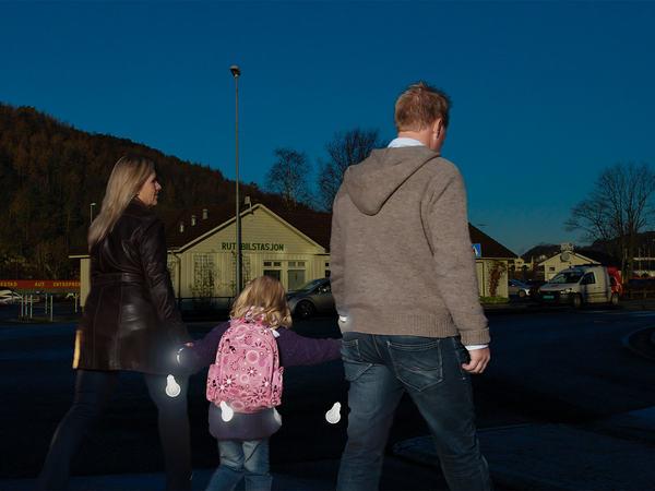 Bruk av refleks i Egersund