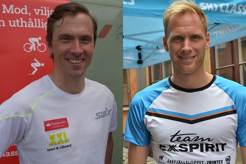 Det blir en härlig kamp mellan Johan Olsson och Daniel Richardsson i Ski Classics i vinter. Duon för intresset från världscupen till långloppscupen. FOTOMONTAGE: Johan Trygg/Längd.se.