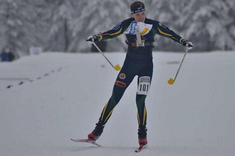 Tove Alexandersson vann överlägset i världscupen i skidorientering i Finland. Bilden från SM i Ånnaboda förra vintern. FOTO: Johan Trygg/Längd.se.