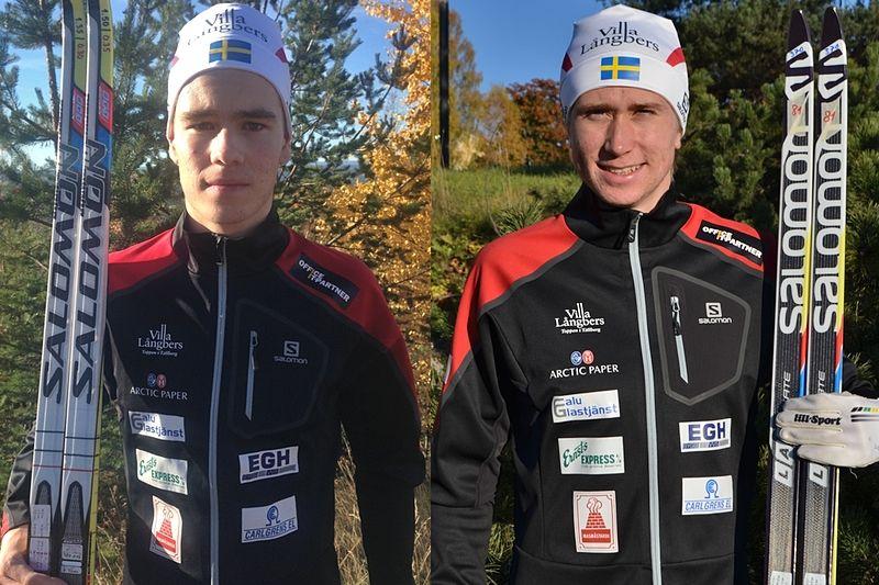 Viktor Thorn och Jonas Eriksson. Två av Sveriges mest lovande unga åkare är nu en del av Team Tynell. FOTO: Johan Trygg/Jonas Eriksson.