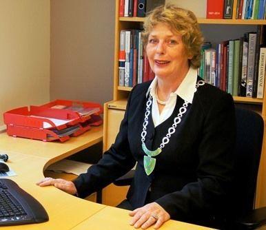 Ordføreren på kontoret