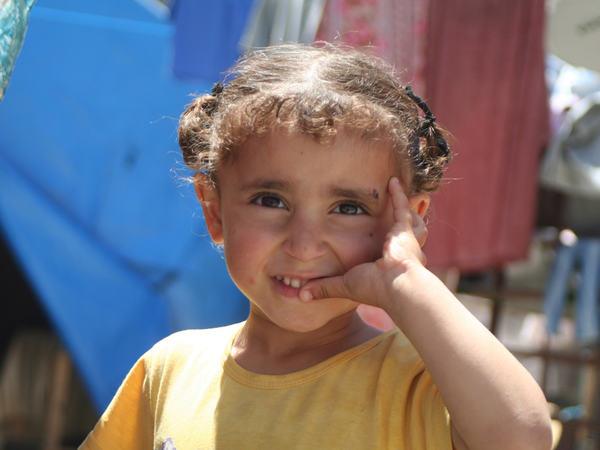 Flyktningebarn i Gaza (Foto:Flyktingehjelpen)
