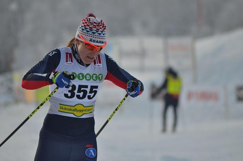 Ida Ingemarsdotter blev trea på rullskidsprinten vid Blinkfestivalen i Norge på lördagen. FOTO: Johan Trygg/Längd.se.