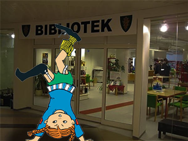 Pippi på biblioteket