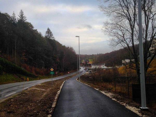 Gang og sykkelvei på Eigerøy