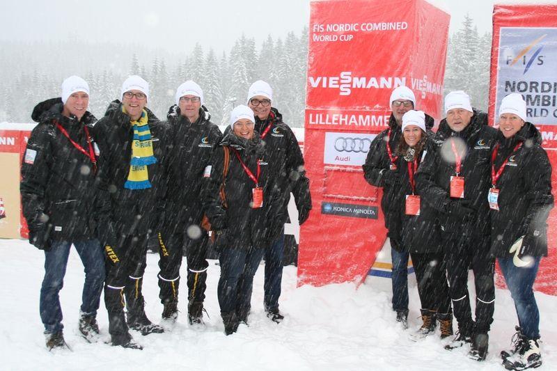Ulricehamns IF:s organisationskommitté inför världscupen 2017 är studiebesök i Lillehammer. FOTO: FIS Cross-Country World Cup Ulricehamn.