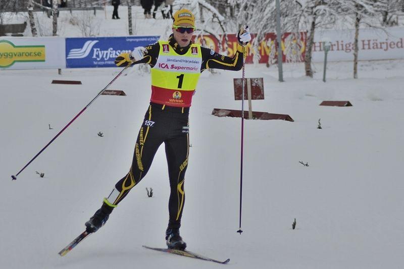 Viktor Thorn tog sitt tredje raka guld vid JSM i Torsby idag. Bilden från säsongspremiären i Bruksvallarna. FOTO: Johan Trygg/Längd.se.