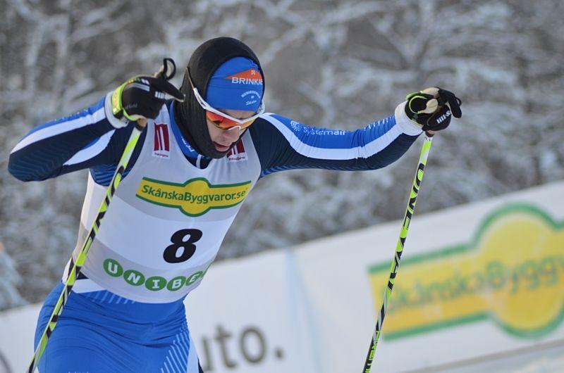 Anton Lindblad åkte sin som sjua bakom sex norrmän vid Skandinaviska cupen i Östersund. FOTO: Johan Trygg/Längd.se.
