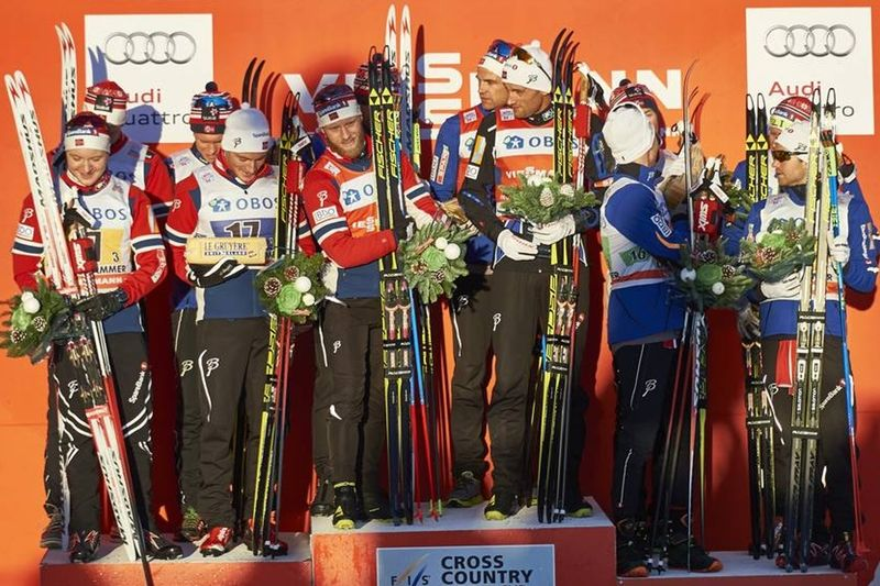 Tolv norska åkare fick trängas på pallen i Lillehammer. FOTO: Felgenhauer/NordicFocus.