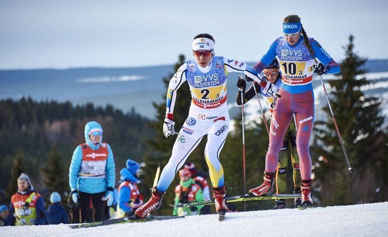 Maria Rydqvist ser fram emot 15 kilometer fritt i Davos på lördag. Här är Maria under världscupstafetten i Lillehammer i helgen. FOTO: Felgenhauer/NordicFocus.