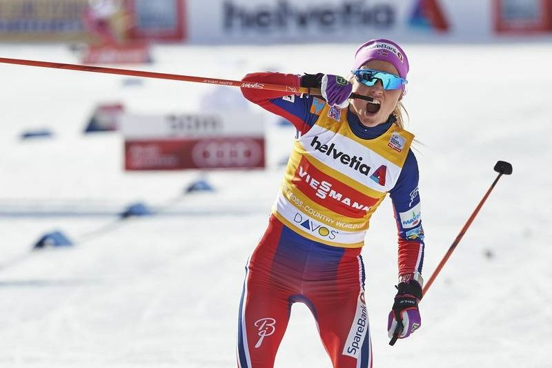 Ingen kan stoppa Therese Johaug framfart i spåret. FOTO: Felgenhauer/NordicFocus.