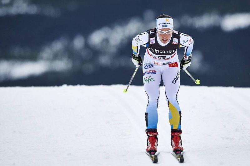 Charlotte Kalla åkte in som femma på 10 kilometer klassiskt i Toblach. Bilden från världscupen i Lillehammer. FOTO: Felgenhauer/NordicFocus.