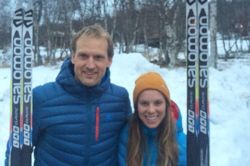 Jerry Ahrlin och Lina Korsgren var snabbast i Vålådalen Classic Ski Marathon. FOTO: Vålådalen.