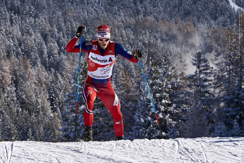 Martin Johnsrud Sundby kämpade mot tröttheten och är kvar i ledningen av Tour de Ski. FOTO: Felgenhauer/NordicFocus.