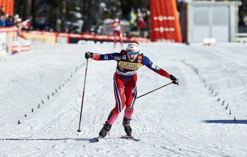 Ingvild Flugstad Östberg imponerade när hon åkte ifrån Therese Johaug på tredje Tour de Ski-etappen. FOTO: Felgenhauer/NordicFocus.