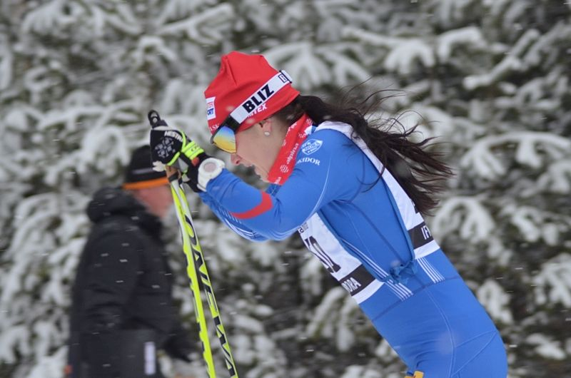 Helene Söderlund höll undan till seger i MoraPinglan under söndagens jaktstart. FOTO: IFK Mora SK.