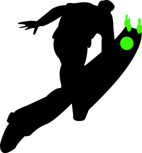 Siluettbilde av mann som bowler.