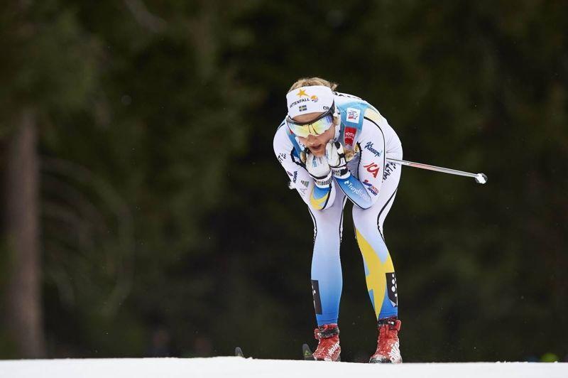 Stina Nilsson leder sprintvärldscupen när tävlandet fortsätter i Drammen på onsdag. FOTO: Felgenhauer/NordicFocus.